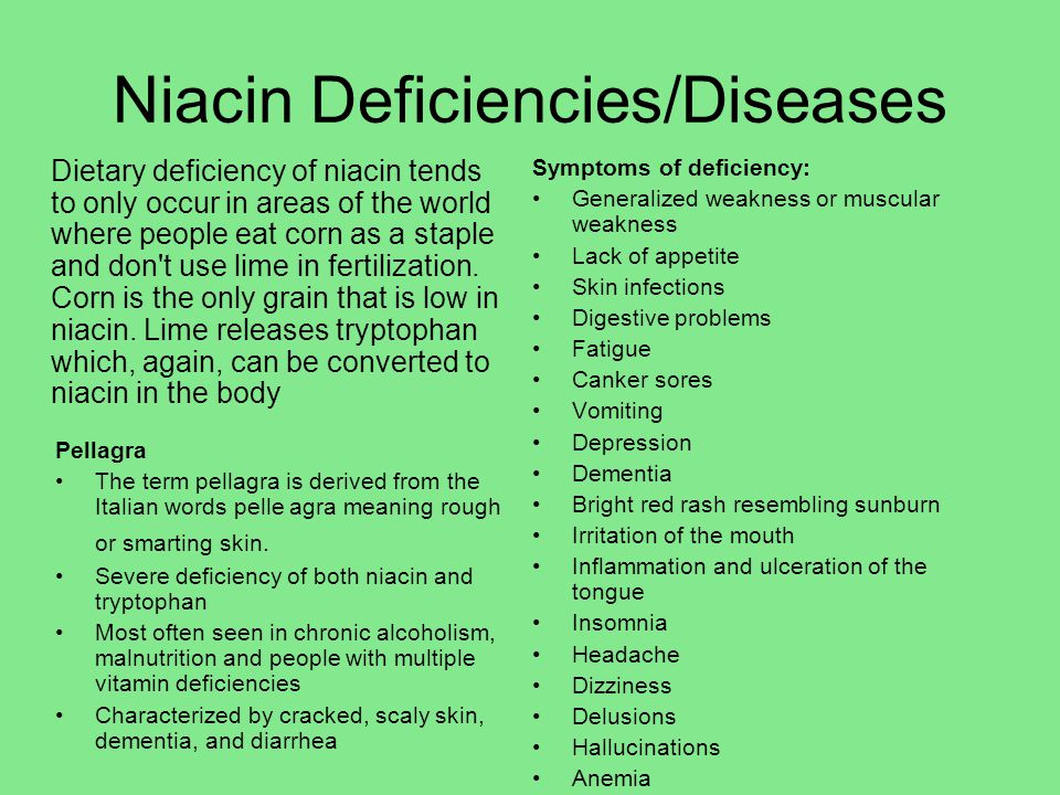 Niacin Deficiencies/Diseases