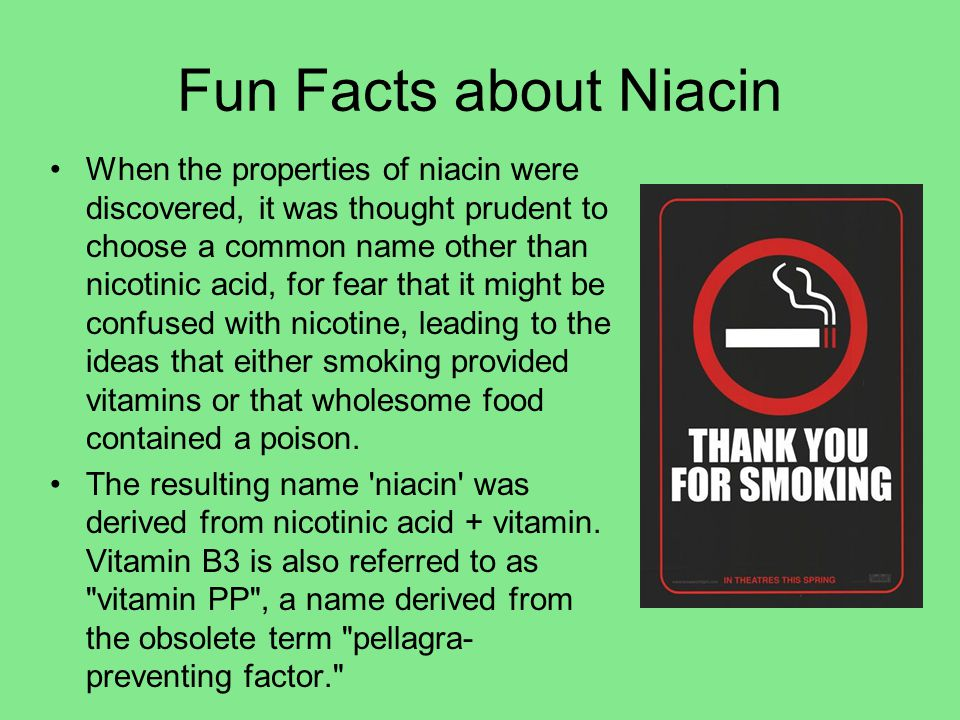 Fun Facts about Niacin