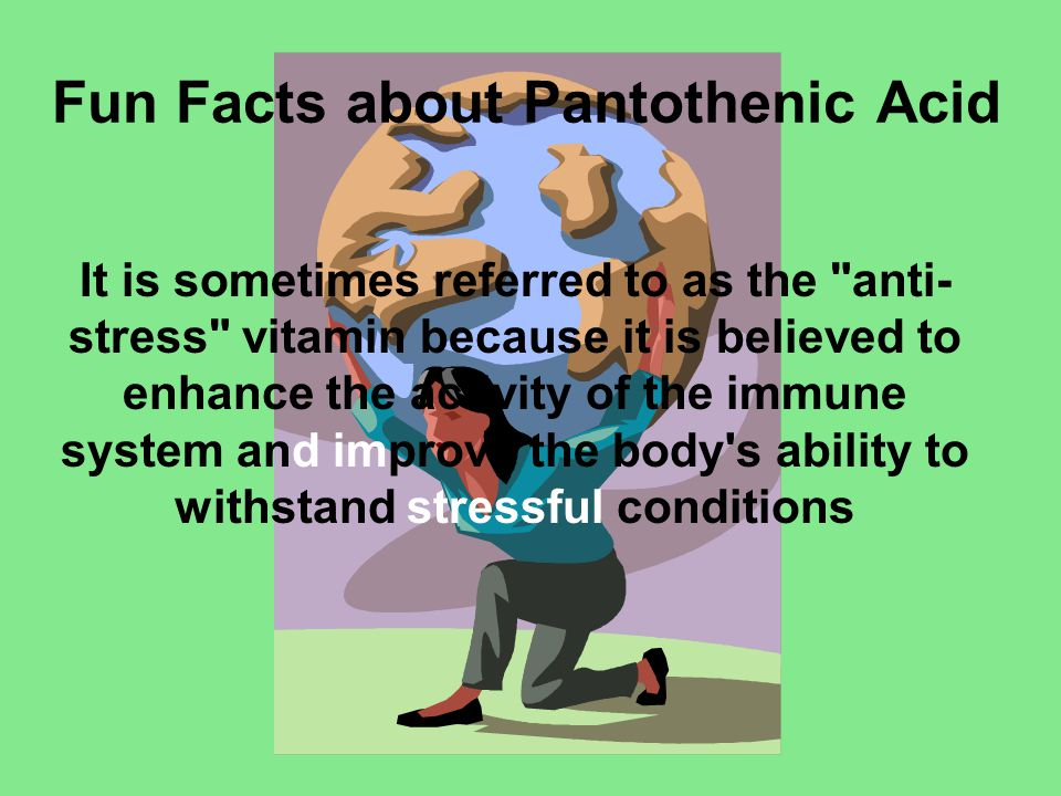 Fun Facts about Pantothenic Acid