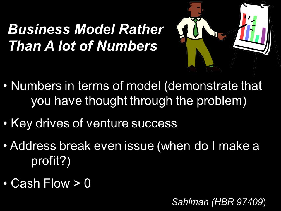 Business Model Rather Than A lot of Numbers
