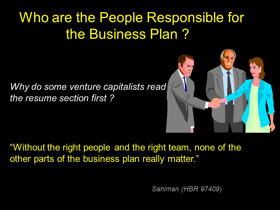 Who are the People Responsible for the Business Plan