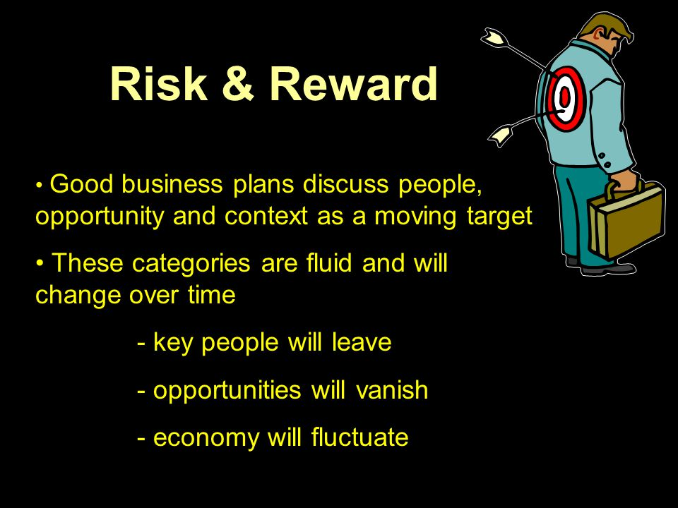 Risk & Reward These categories are fluid and will change over time