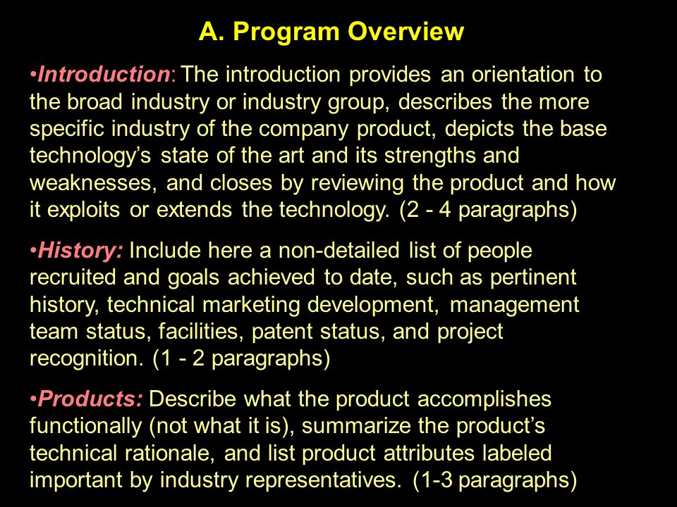 A. Program Overview