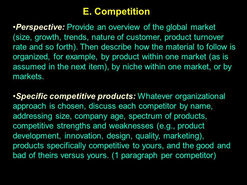 E. Competition