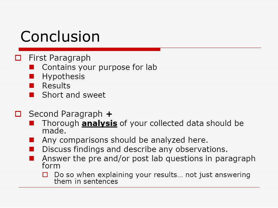 Conclusion First Paragraph Second Paragraph +