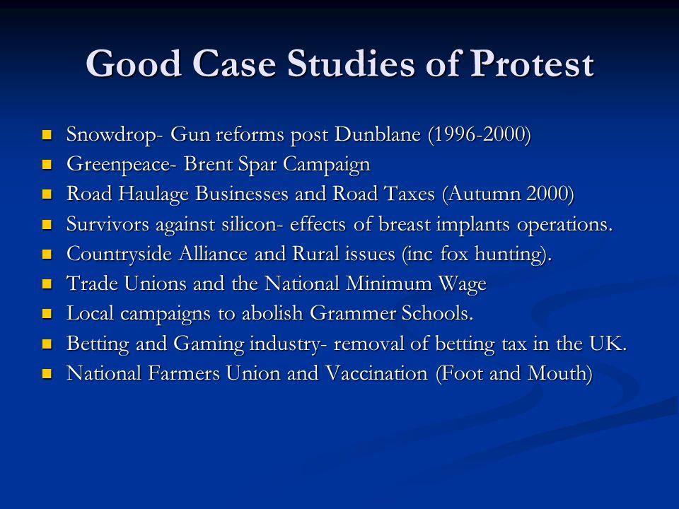 Good Case Studies of Protest