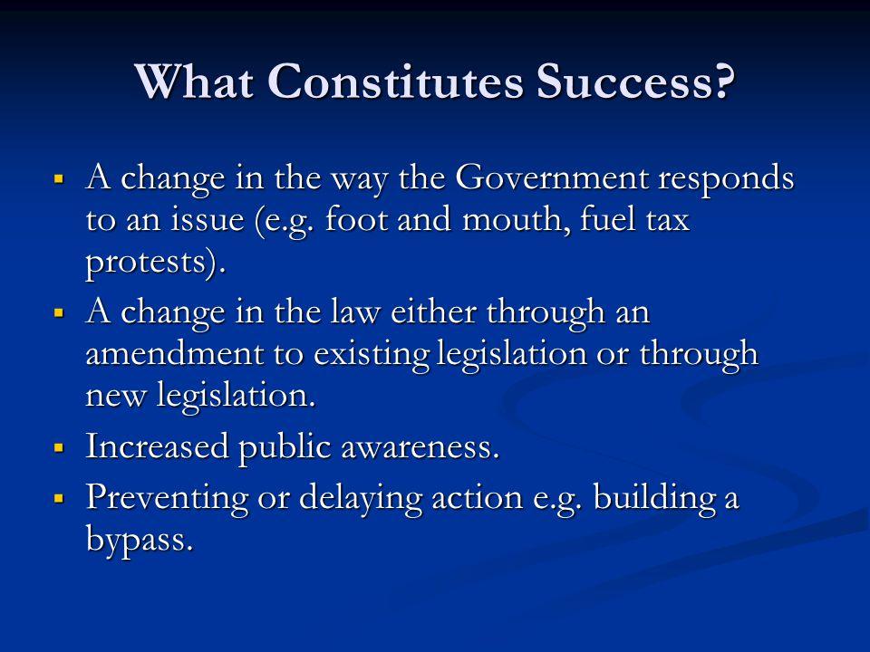 What Constitutes Success