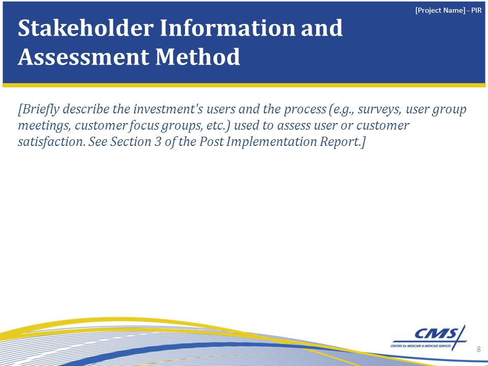 Stakeholder Information and Assessment Method