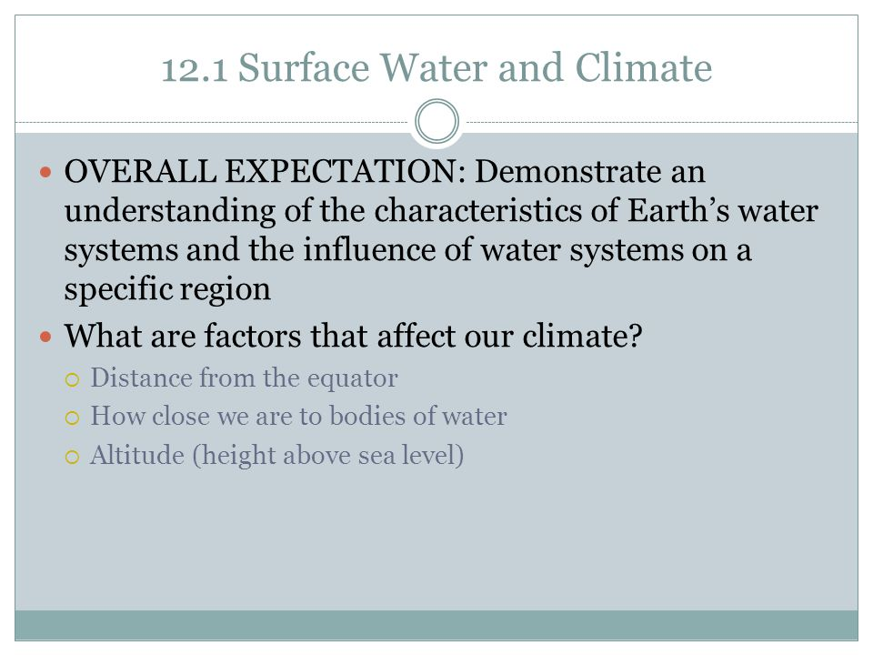12.1 Surface Water and Climate