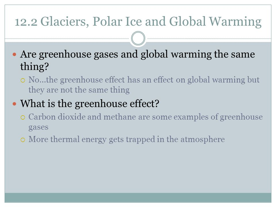12.2 Glaciers, Polar Ice and Global Warming