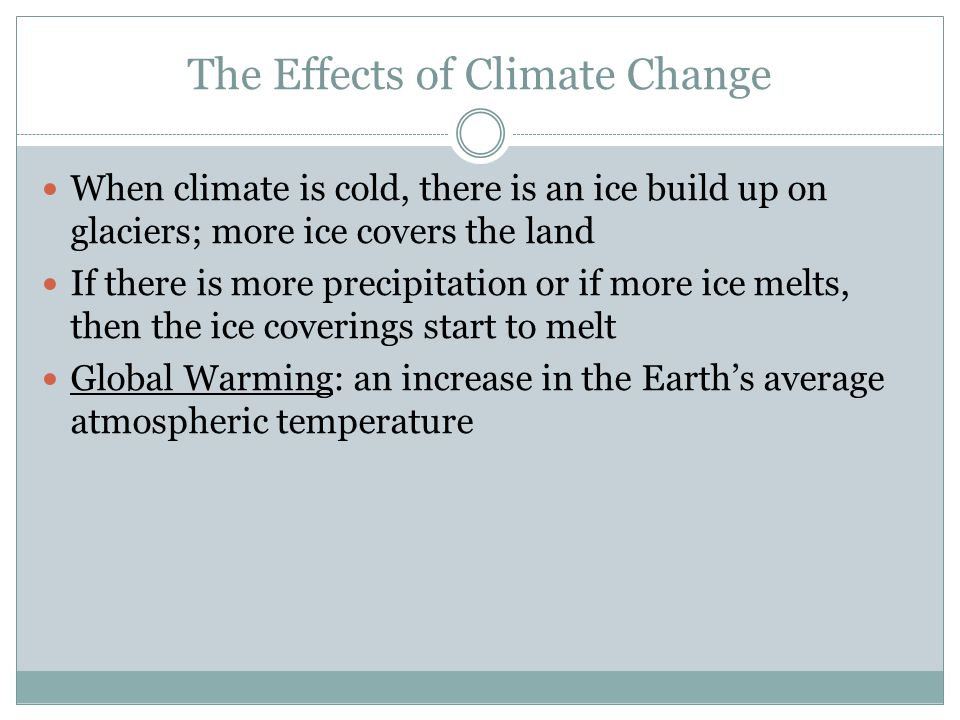 The Effects of Climate Change