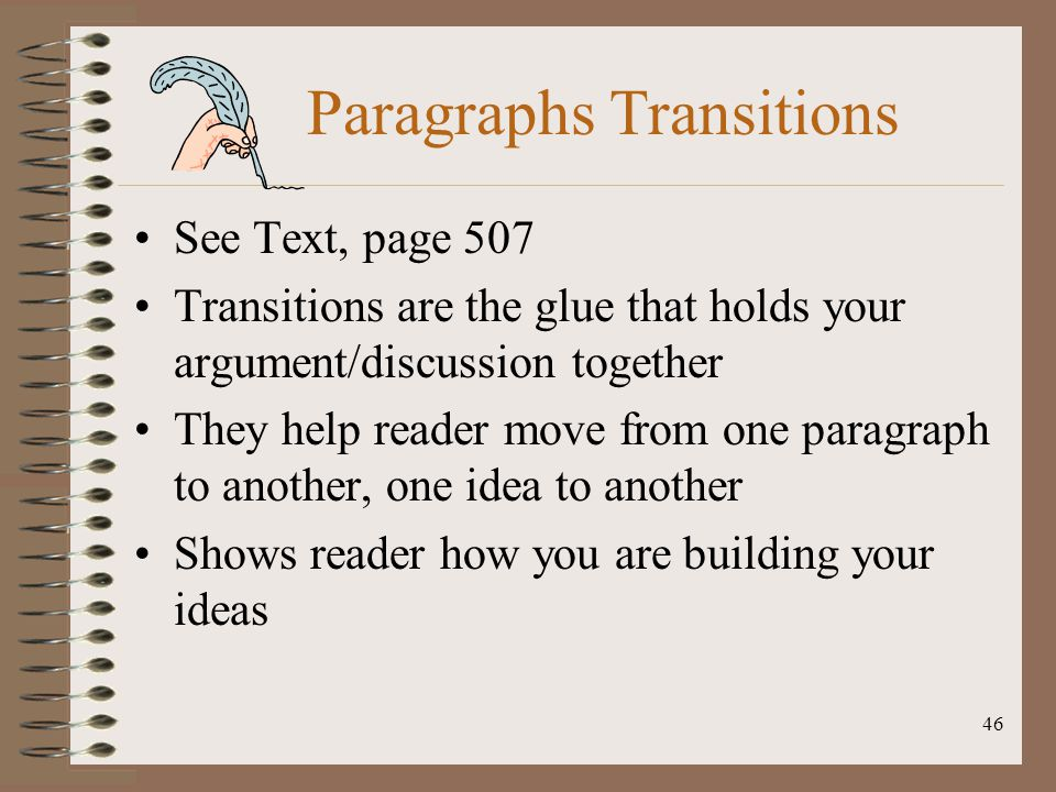 Paragraphs Transitions
