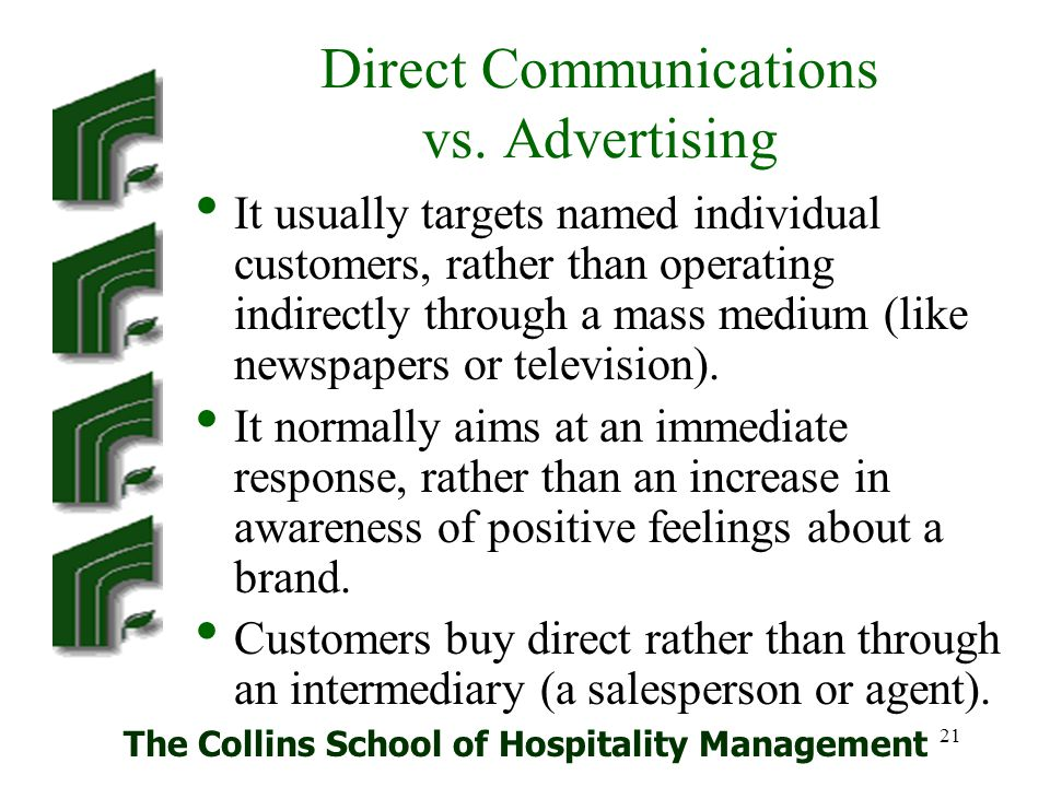 Direct Communications vs. Advertising