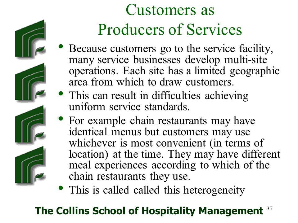 Customers as Producers of Services
