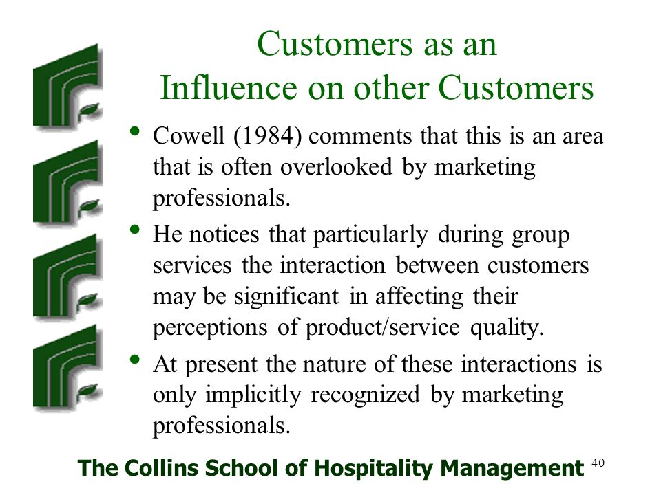 Customers as an Influence on other Customers