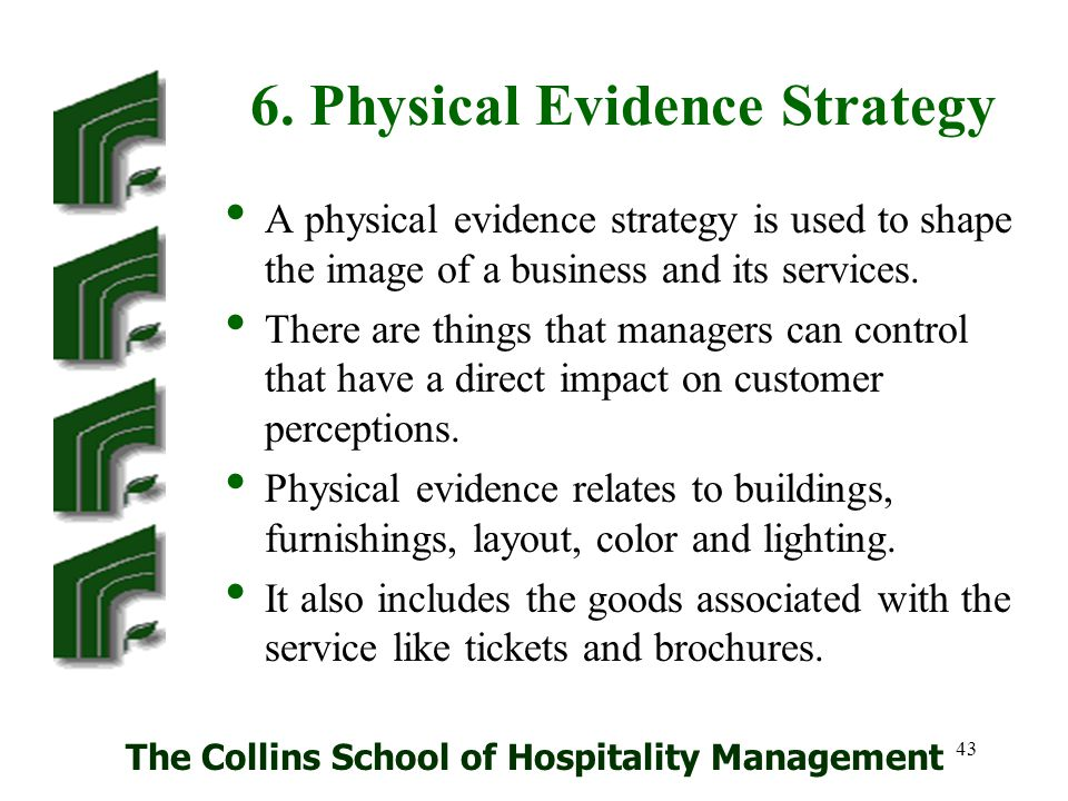 6. Physical Evidence Strategy