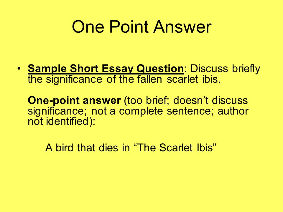 Answering Essay Questions Discuss  Importance Of English Essay also Essays Topics For High School Students  Best English Essay
