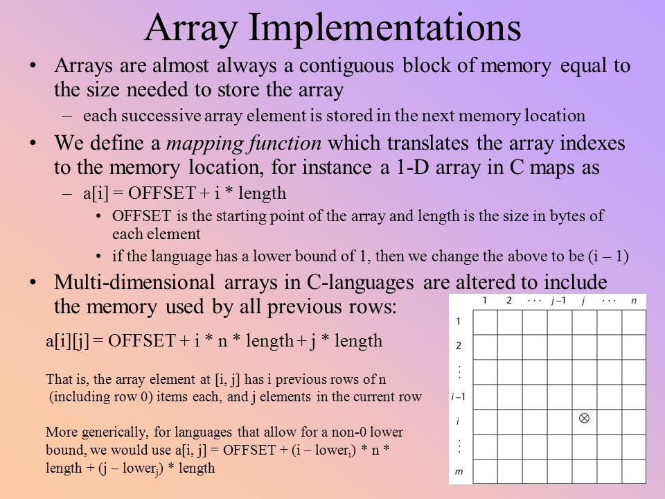 Array Implementations