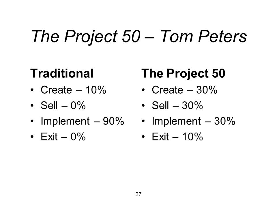 The Project 50 – Tom Peters