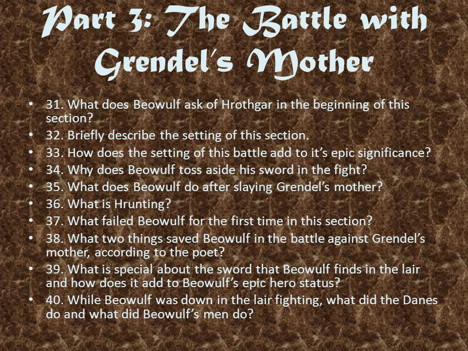 Part 3: The Battle with Grendel's Mother