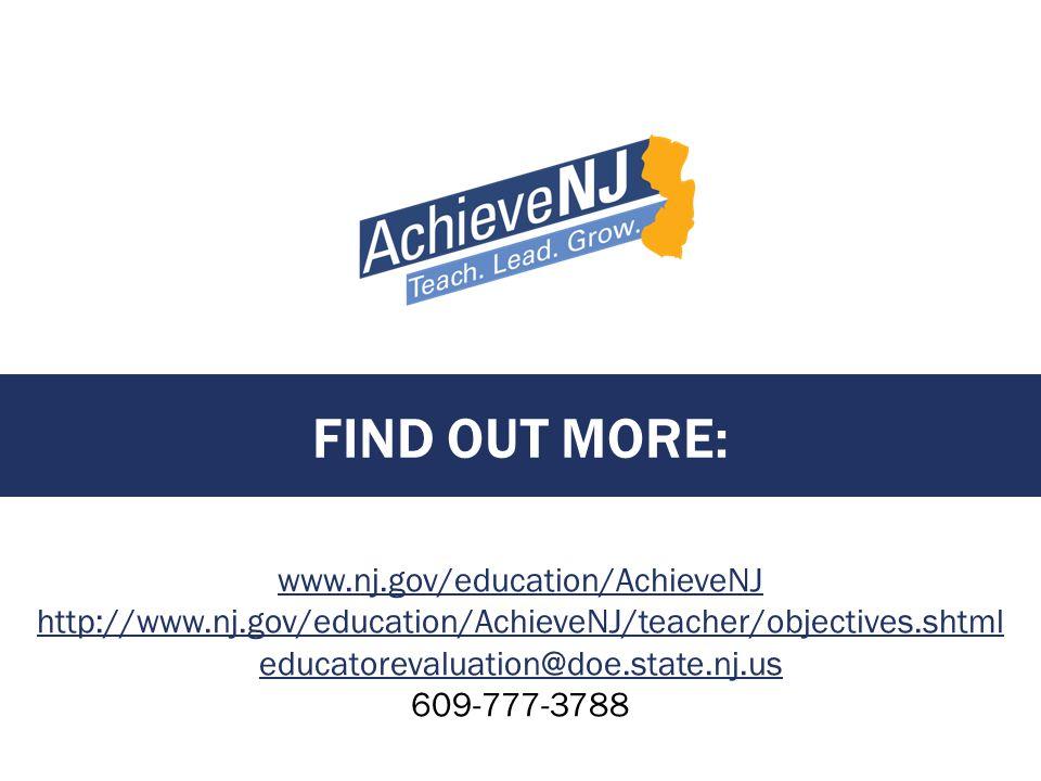 Find out more: www.nj.gov/education/AchieveNJ