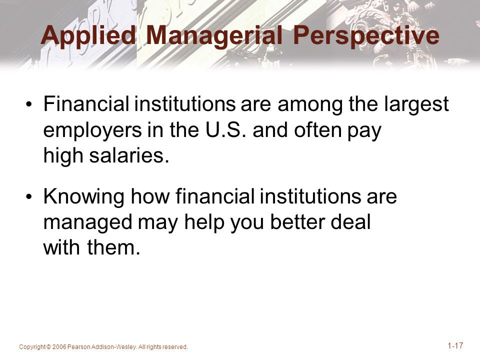 Applied Managerial Perspective