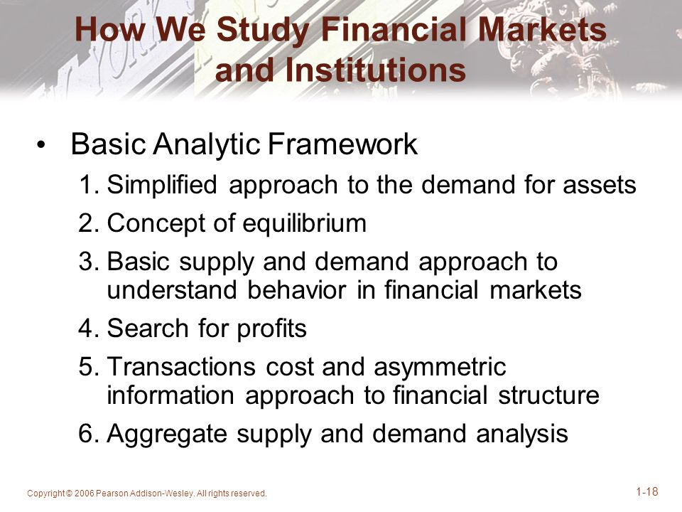 How We Study Financial Markets and Institutions