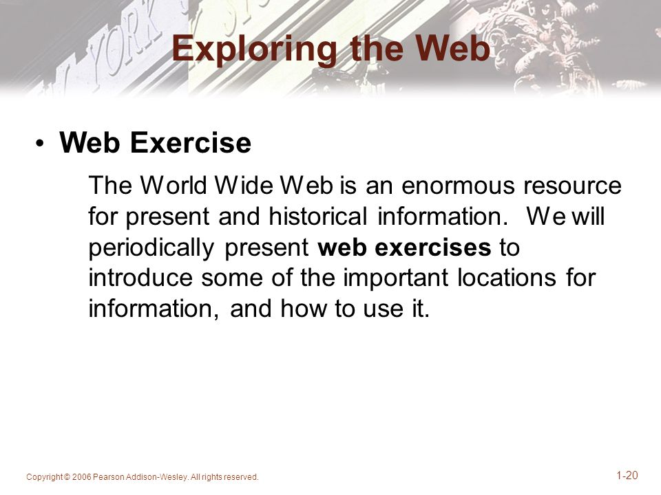 Exploring the Web Web Exercise