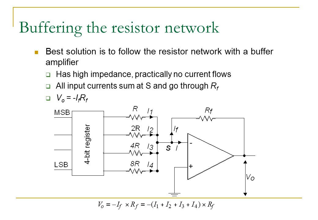 Buffering the resistor network