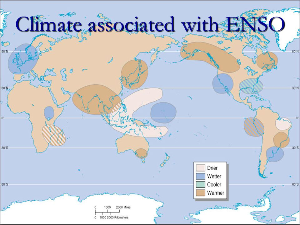 Climate associated with ENSO