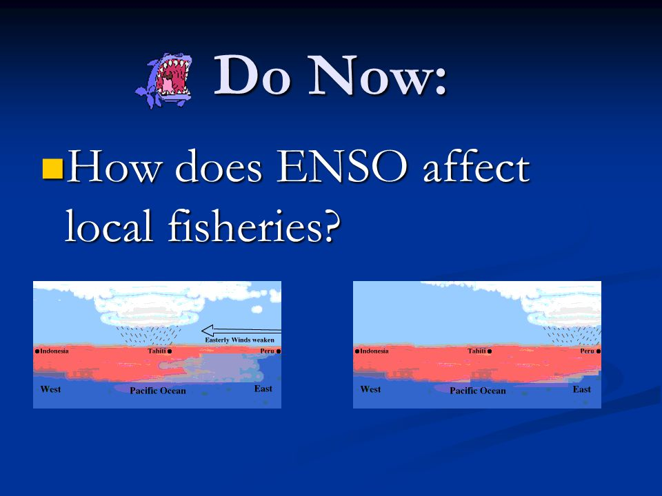 Do Now: How does ENSO affect local fisheries