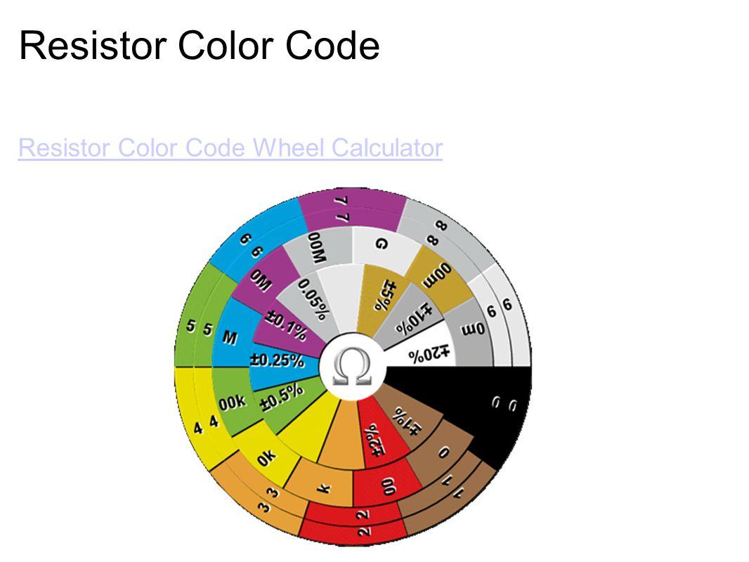 Resistor Color Code Resistor Color Code Wheel Calculator