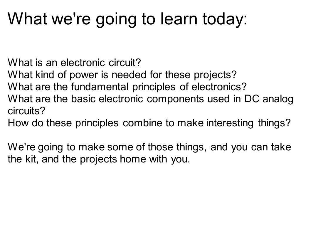 What we re going to learn today: