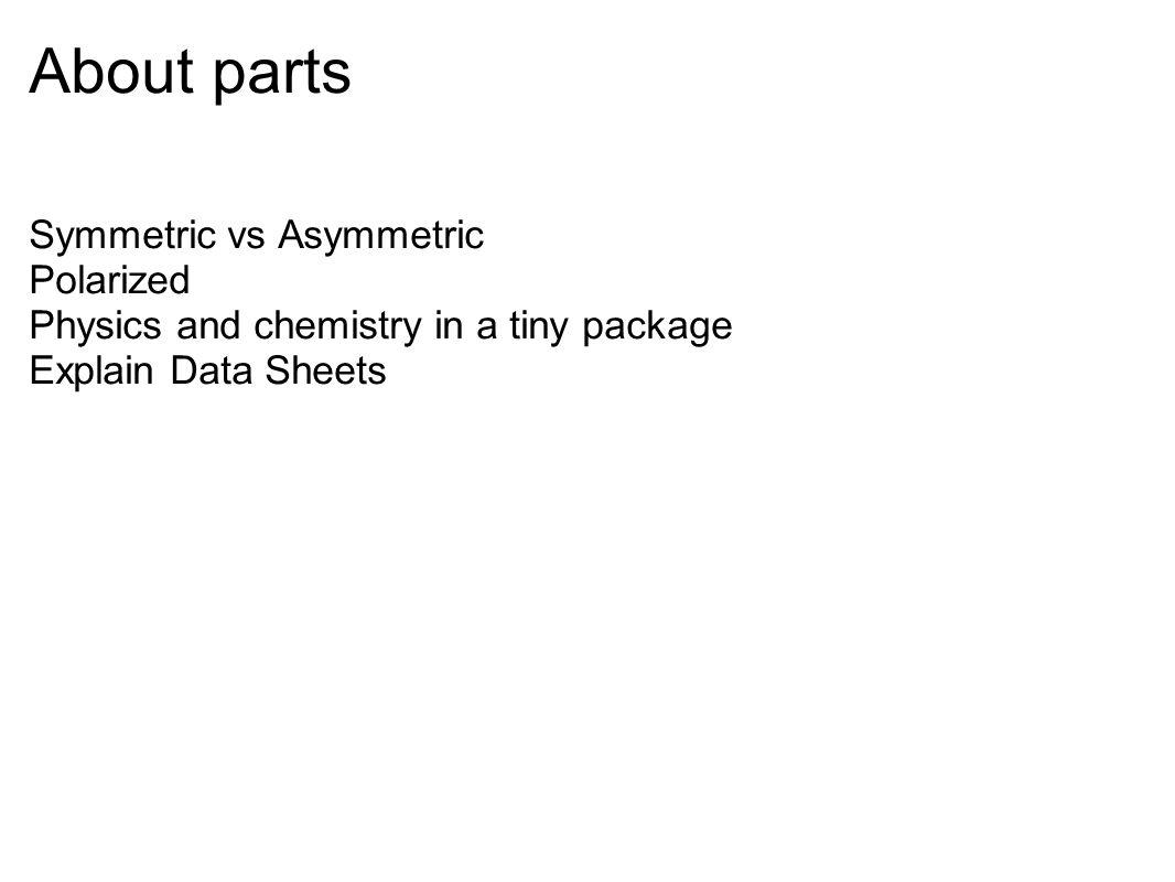 About parts Symmetric vs Asymmetric Polarized