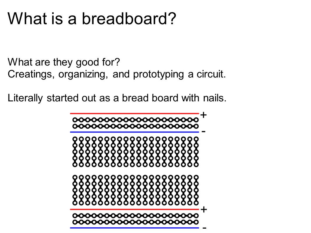 What is a breadboard What are they good for