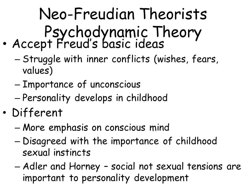 Neo-Freudian Theorists Psychodynamic Theory