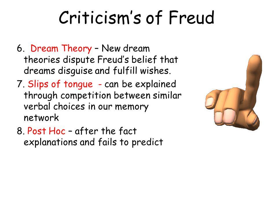 Criticism's of Freud