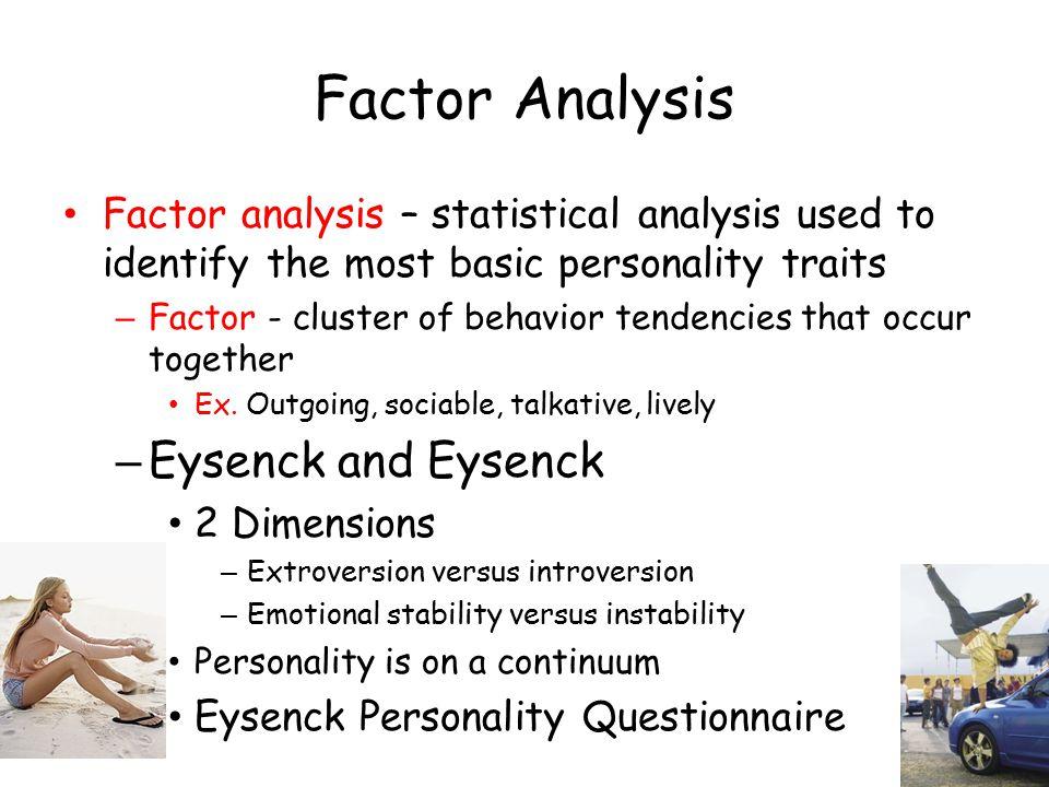 Factor Analysis Eysenck and Eysenck