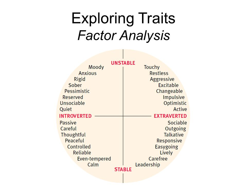 Exploring Traits Factor Analysis