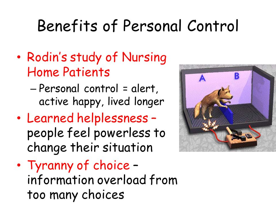 Benefits of Personal Control