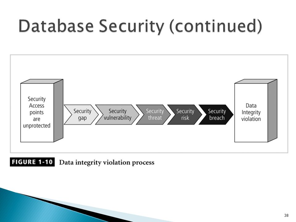 Database Security (continued)