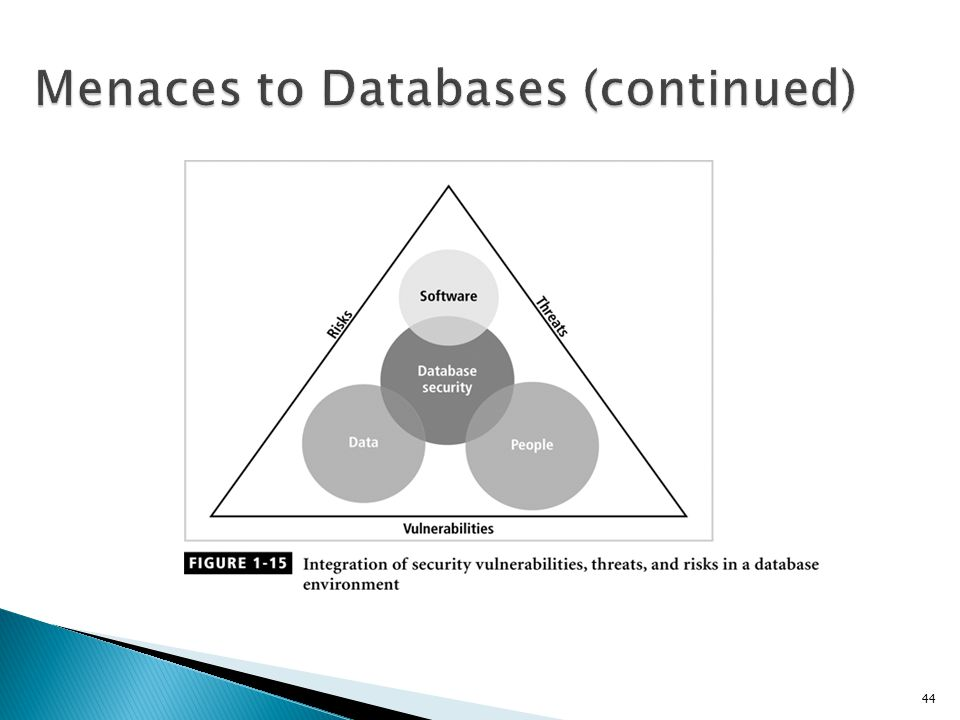 Menaces to Databases (continued)