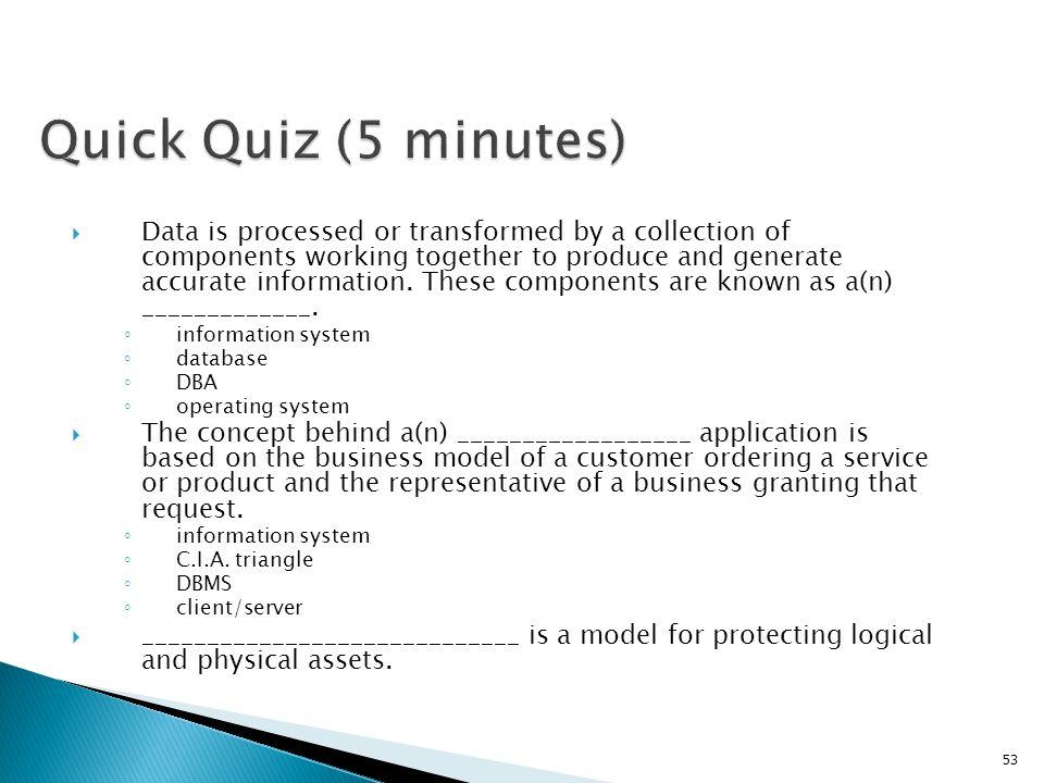 Quick Quiz (5 minutes)