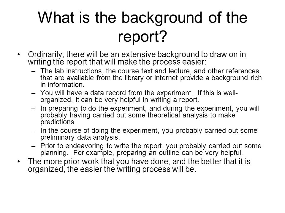 What is the background of the report