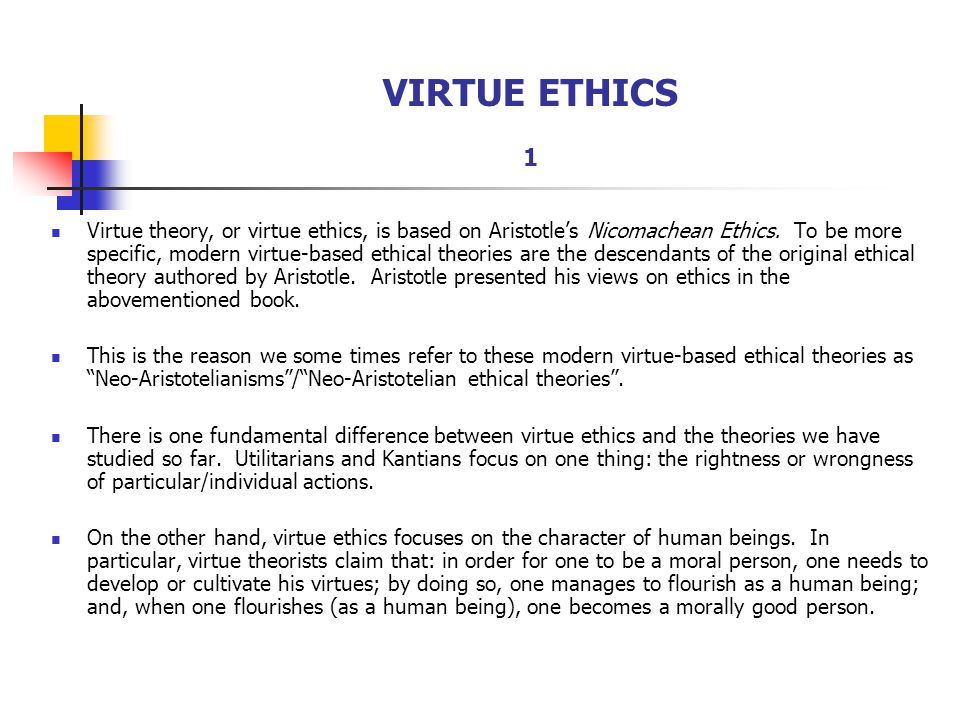 Aristotelian ethics