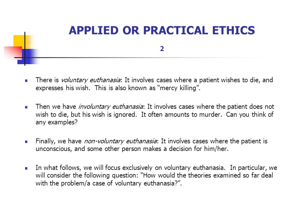 APPLIED OR PRACTICAL ETHICS 2