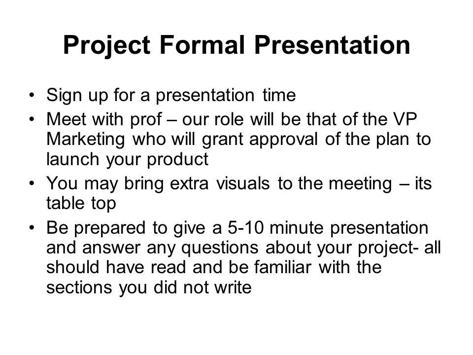 Project Formal Presentation