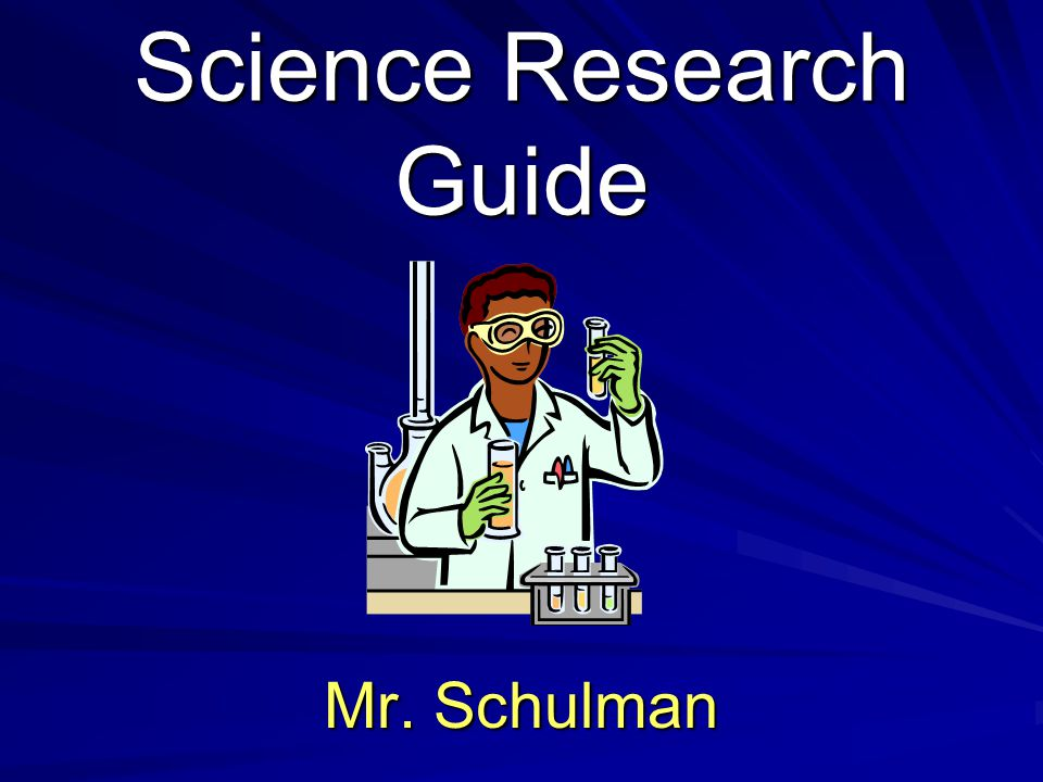 Science Research Guide