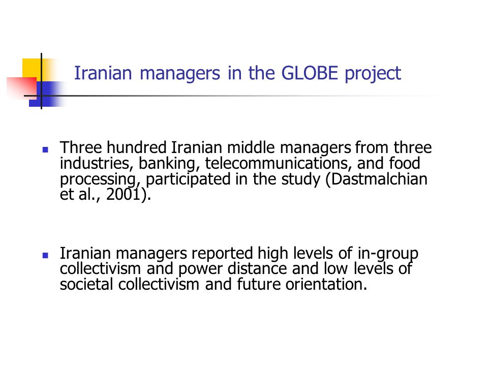 Iranian managers in the GLOBE project