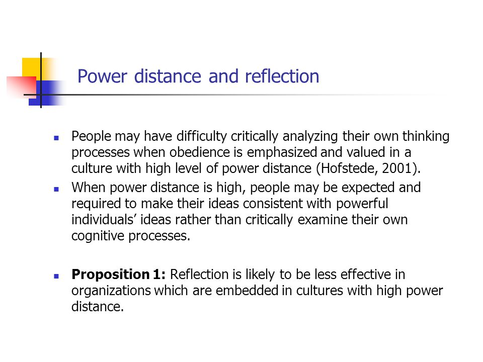Power distance and reflection